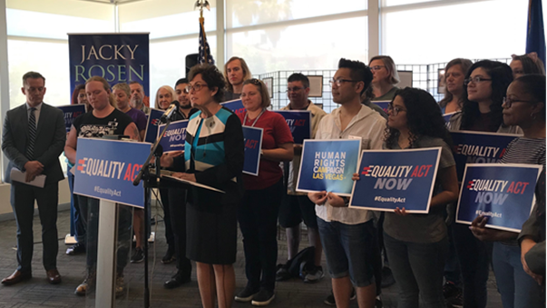 Jacky Rosen Holds Equality Act Press Conference with LGBTQ Nevadans