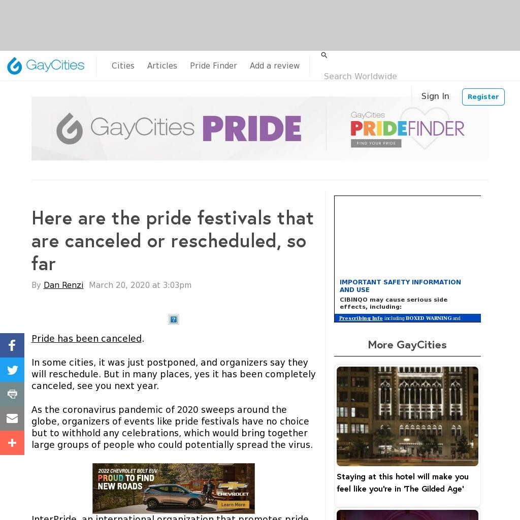 Almost 100 pride events canceled so far, and here is a cool map