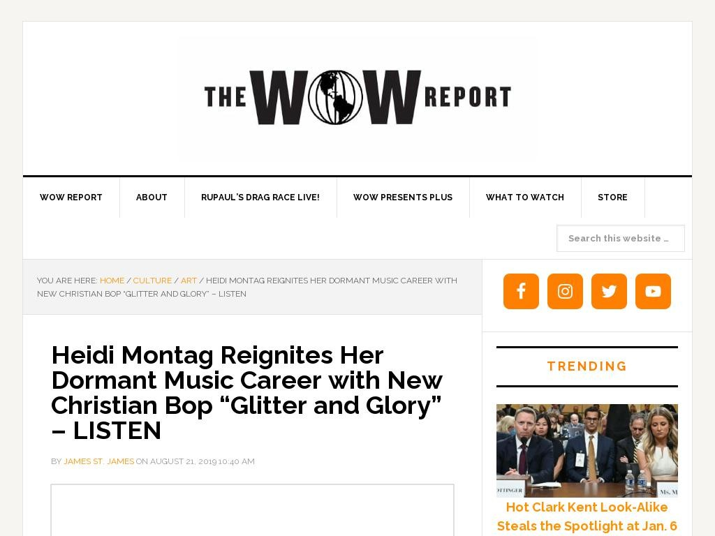 "Heidi Montag Reignites Her Dormant Music Career with New Christian Bop ""Glitter and Glory"" – LISTEN"
