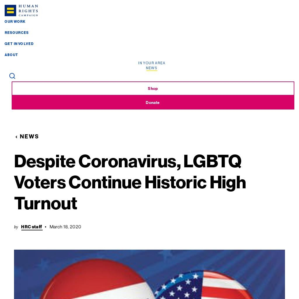 Despite Coronavirus, LGBTQ Voters Continue Historic High Turnout