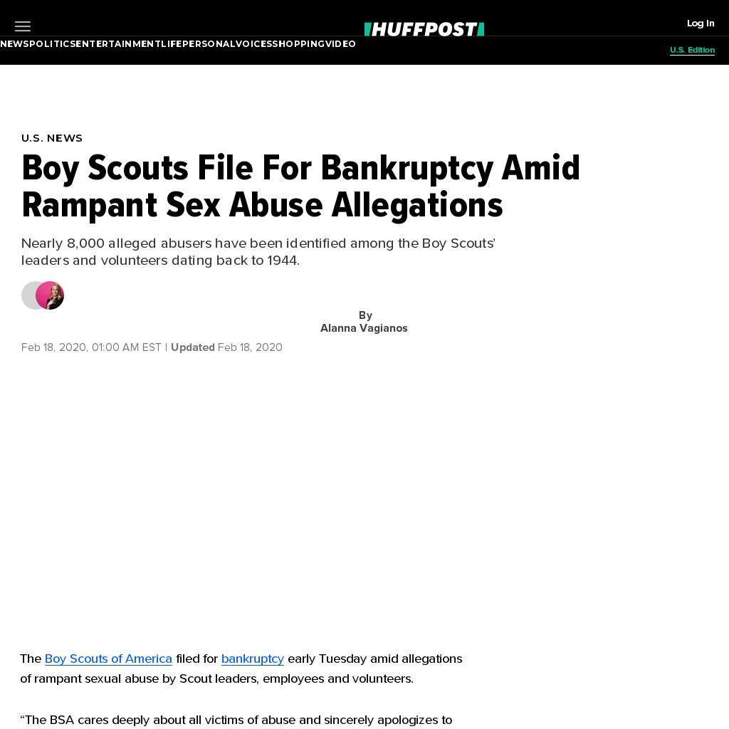 Boy Scouts File For Bankruptcy Amid Rampant Sex Abuse Allegations