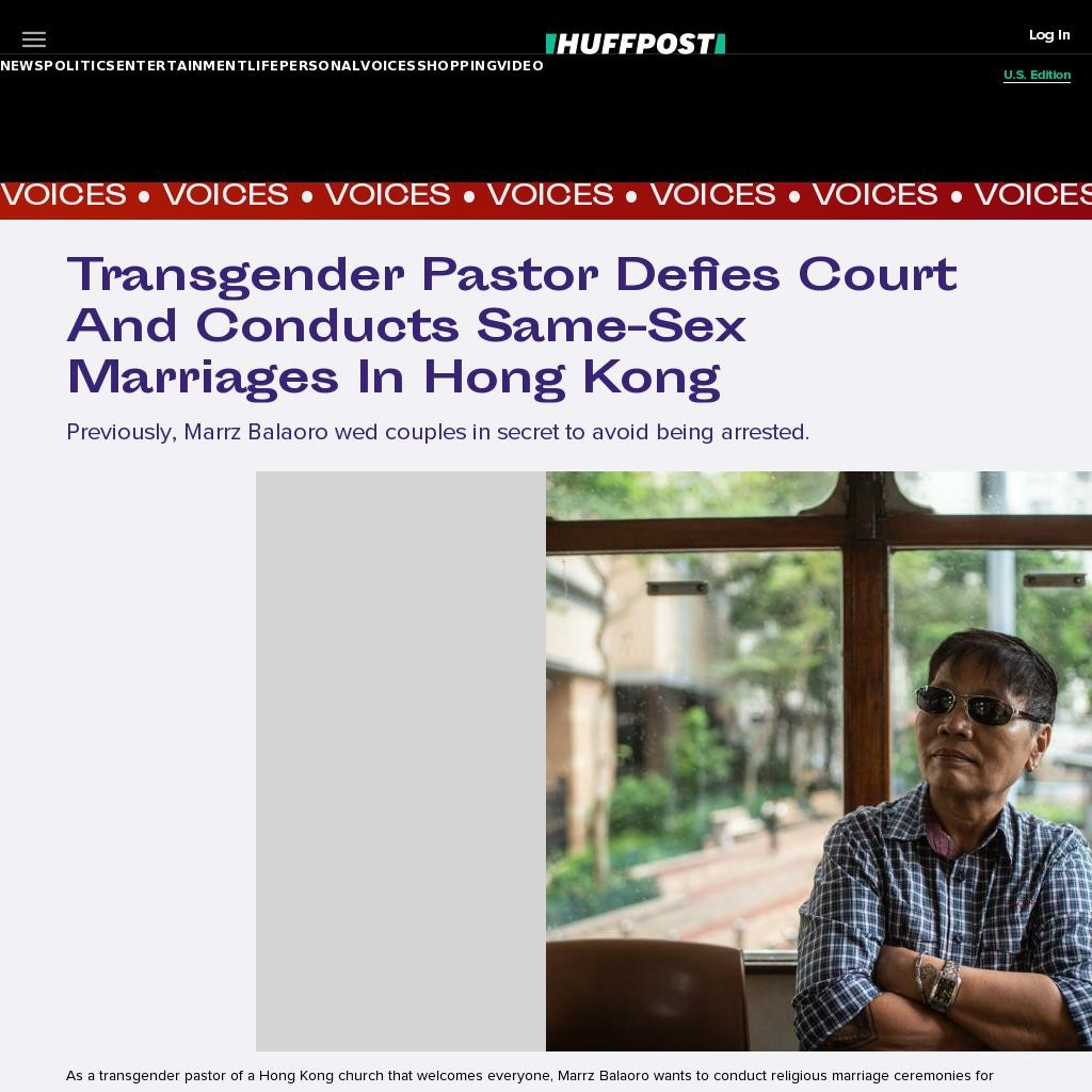 Transgender Pastor Defies Court And Conducts Same-Sex Marriages In Hong Kong