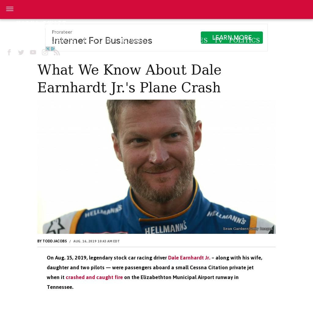 What we know about Dale Earnhardt Jr.'s plane crash