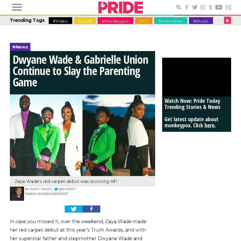 Dwyane Wade & Gabrielle Union Continue to Slay the Parenting Game